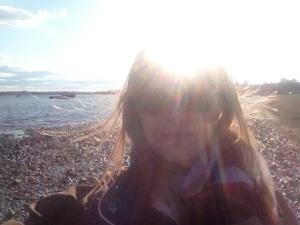 face on the beach april 14